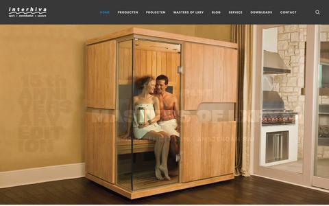 Screenshot of Home Page interhiva.nl - Specialist in zwembaden, spa's, sauna's en infraroodcabines | Interhiva - captured Nov. 26, 2016