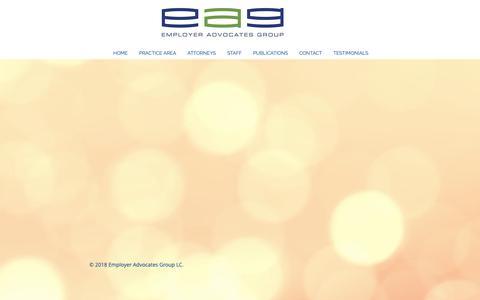 Screenshot of Testimonials Page eaglawgroup.com - TESTIMONIALS | United States | Employer Advocates Group LC (EAG) - captured Dec. 14, 2018
