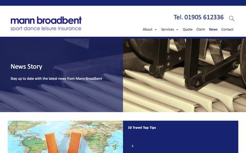 Screenshot of Press Page mannbroadbent.co.uk - News - Mann Broadbent - captured July 27, 2018