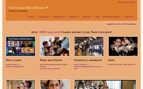 Screenshot of Home Page fcbd.com - FatChanceBellyDance® - captured Jan. 28, 2015