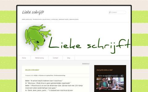 Screenshot of Blog wordpress.com - Lieke denkt | Lieke schrijft | zakelijke blogs, persberichten, advertorials, interviews, samenvattingen, jaarverslagen… - captured Sept. 12, 2014