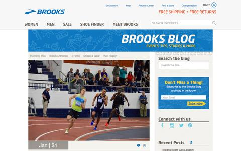 Screenshot of Blog brooksrunning.com - Brooks Blog - Run Happy! - captured Feb. 4, 2017