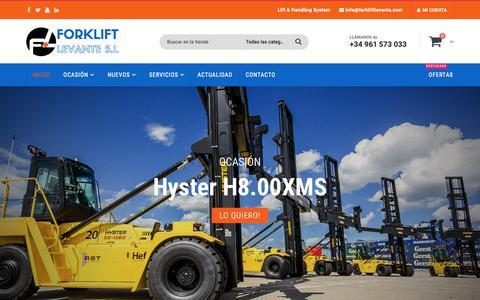 Screenshot of Home Page forkliftlevante.com - Carretillas Elevadoras Valencia   ForkLiftLevante - captured Oct. 10, 2018