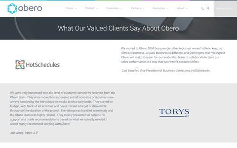Testimonials and Case Studies - Obero SPM