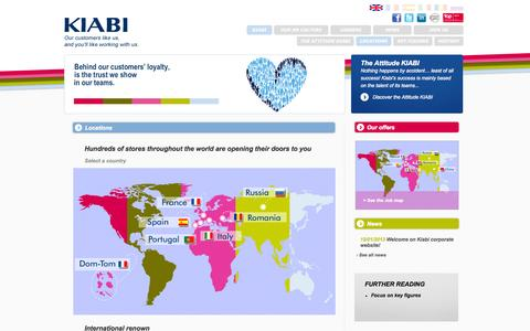 Screenshot of Locations Page kiabi.com - Locations - captured Sept. 18, 2014