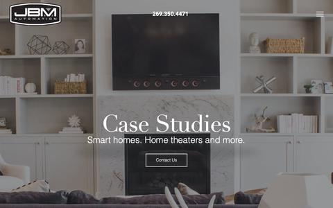 Screenshot of Case Studies Page jbmautomation.com - Case Studies - JBM Automation - captured Nov. 5, 2018