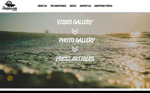 Screenshot of Press Page thefreshairproject.com - thefreshairproject | MEDIA - captured June 15, 2017