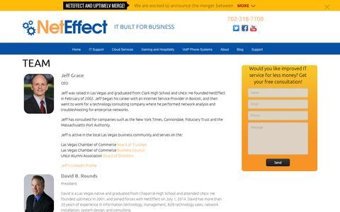 Screenshot of Team Page neteffect-it.com - Team - NetEffect - captured Oct. 26, 2014