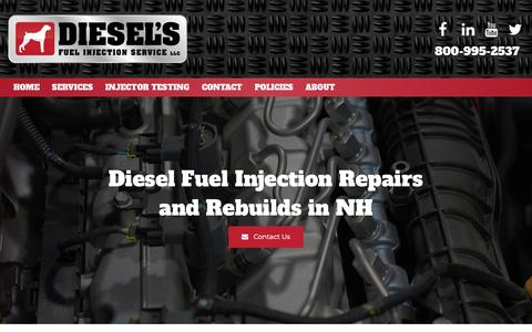 Screenshot of Services Page dieselsfuelinjection.com - Diesel Fuel Injector Repairs & Rebuilds | Concord, Bow, Hooksett - captured Oct. 9, 2018