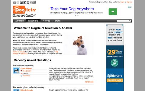 Screenshot of FAQ Page dogheirs.com - DogHeirs helps dogs in your family, dogs in your neighborhood and dogs in need » DogHeirs | Where Dogs Are Family - captured Aug. 2, 2016