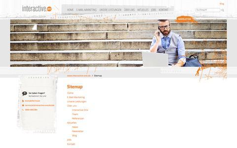Screenshot of Site Map Page interactive-one.de - Sitemap | Interactive One - captured Oct. 15, 2017