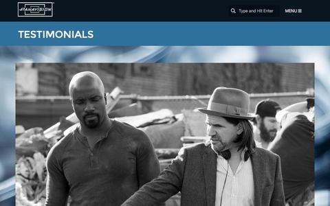 Screenshot of Testimonials Page panavision.com - Testimonials | Panavision - captured Oct. 20, 2016