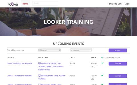 Looker Training - Looker Data Sciences, Inc.