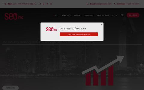 Screenshot of Home Page seoinc.com - SEO Company | SEO Services - Search Engine Optimization - captured Aug. 19, 2019
