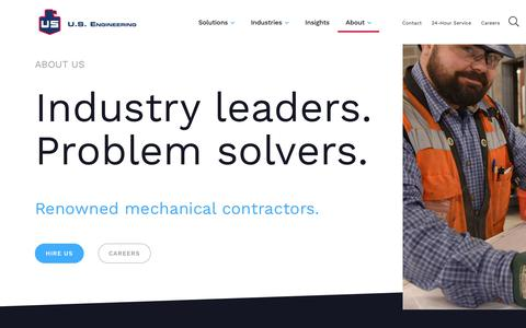 Screenshot of About Page usengineering.com - About Us | U.S. Engineering - captured July 3, 2019