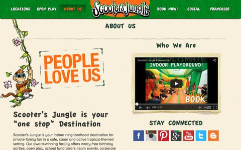 Screenshot of About Page scootersjungle.com - Scooter's Jungle | About Us - captured Dec. 22, 2015