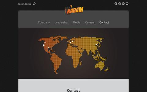 Screenshot of Contact Page kabam.com - Contact - Kabam - captured Sept. 16, 2014
