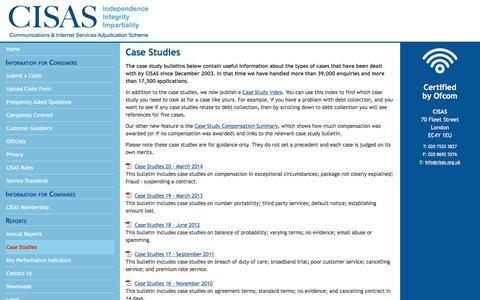 Screenshot of Case Studies Page cedr.com - CISAS: Case Studies - captured June 13, 2016