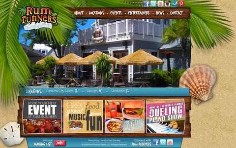 Screenshot of Home Page rumrunners.com - Home - Rum Runners - captured Feb. 21, 2016