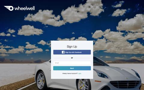 Screenshot of Signup Page wheelwell.com - Sign Up | Wheelwell - captured May 10, 2017