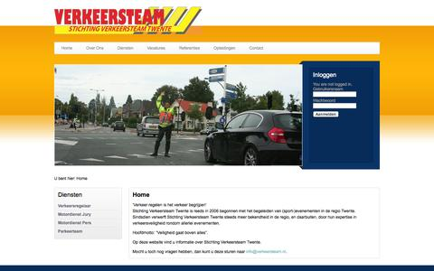 Screenshot of Home Page verkeersteam.nl - Verkeersteam Twente - captured Oct. 7, 2014