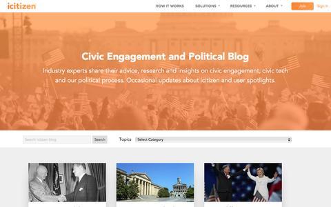 Screenshot of Blog icitizen.com - Civic Engagement and Political Blog   icitizen - captured Aug. 6, 2016