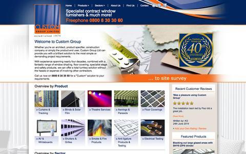 Screenshot of Home Page custom-group.com - Home || Custom Group - captured Oct. 6, 2014