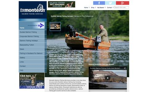 Screenshot of Home Page Menu Page salmon-fishing-scotland.com - Salmon Fishing Scotland - Guided Fishing with Ghillie Jock Monteith - The Monteith - captured Oct. 4, 2014