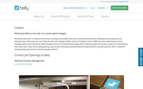 Screenshot of Jobs Page bellycard.com - Business Customer Loyalty Program | Belly - captured Feb. 16, 2017