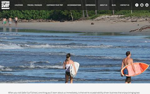 Screenshot of About Page safarisurfschool.com - About Us - Safari Surf School - captured Nov. 18, 2016