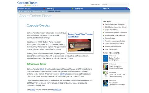Screenshot of About Page carbonplanet.com - Carbon Planet Corporate Overview - captured July 11, 2016