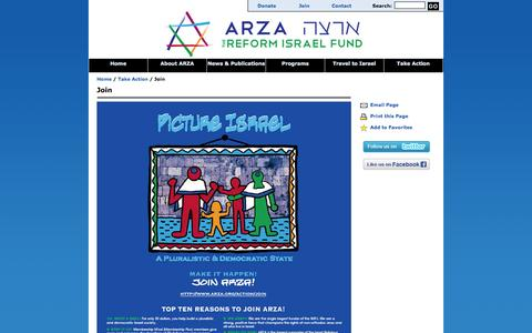 Screenshot of Signup Page arza.org - ARZA - Join - captured Sept. 26, 2014