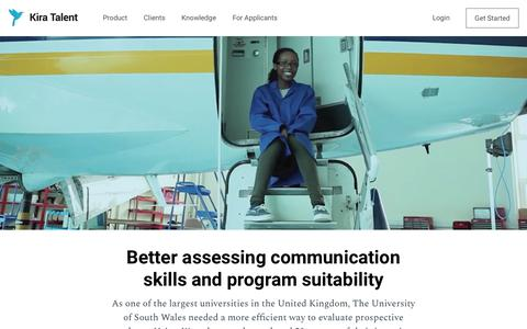 Screenshot of Case Studies Page kiratalent.com - University of South Wales - Kira Talent - captured March 29, 2018