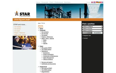 Screenshot of Site Map Page starpowerpeople.com - Sitemap - STAR power people - captured Oct. 3, 2014