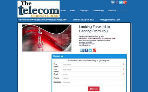 Screenshot of Contact Page telecomsg.com - Telecom Search Group Contact-Us Form - captured Nov. 29, 2016