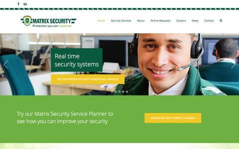 Screenshot of Home Page matrixsecurity.co.nz - Security NZ | Matrix Security - captured Feb. 12, 2016