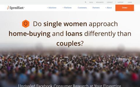 Screenshot of Home Page spredfast.com - Social Media Marketing & Management Software   Spredfast - captured Aug. 24, 2017