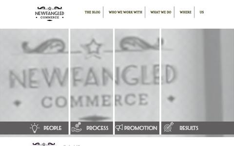 Screenshot of Home Page newfangledcommerce.com - Newfangled Commerce - Digital Marketing for Entrepreneurs - captured Sept. 21, 2018