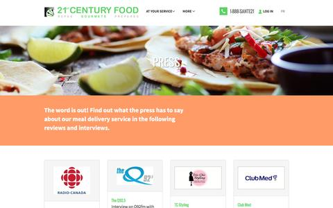 Screenshot of Press Page 21stcenturyfood.com - Press | 21st Century Food - captured Dec. 13, 2016