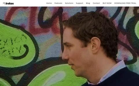 Screenshot of Team Page trakax.com - The Team - trakax Video Editing Software - captured Jan. 29, 2016