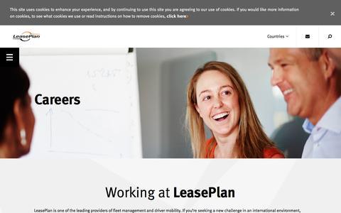 Screenshot of Jobs Page leaseplan.com - LeasePlan Corporation N.V. | Careers - captured April 15, 2016