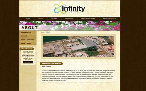 Screenshot of About Page infinitylawnandgarden.com - About Us - Infinity Lawn & Garden - captured Oct. 6, 2014