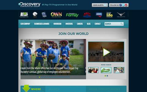 Screenshot of Jobs Page discovery.com - Discovery Communications - captured Oct. 22, 2014