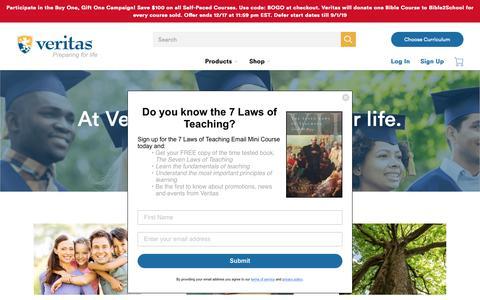 Screenshot of About Page veritaspress.com - Veritas Press | Why Veritas? - captured Dec. 12, 2018