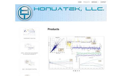 Screenshot of Products Page honuatek.com - Products | HonuaTek - captured Sept. 30, 2014