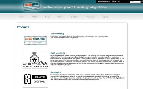 Screenshot of Products Page audiowerk.eu - Audiowerk: Produkte - captured June 5, 2016