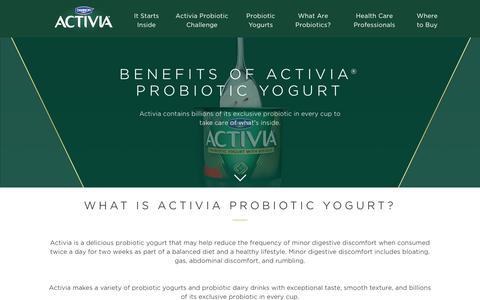 Screenshot of Signup Page activia.us.com - Activia Probiotic Yogurt Benefits - captured June 24, 2017
