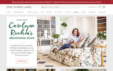 Screenshot of Signup Page onekingslane.com - Furniture, Sofas, Rugs, Bedding, Home Decor | One Kings Lane - captured Nov. 5, 2015