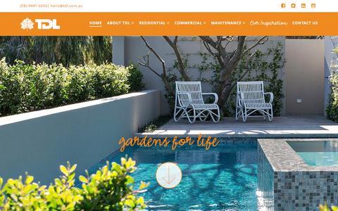 Screenshot of Home Page tdl.com.au - Landscapers Perth | Tim Davies Landscaping - captured Feb. 17, 2016