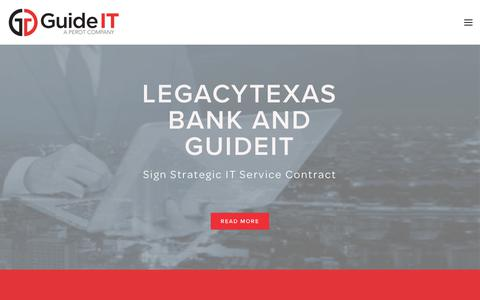 Screenshot of Home Page guideit.com - GuideIT - captured July 13, 2018